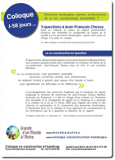 J-58 avant le colloque